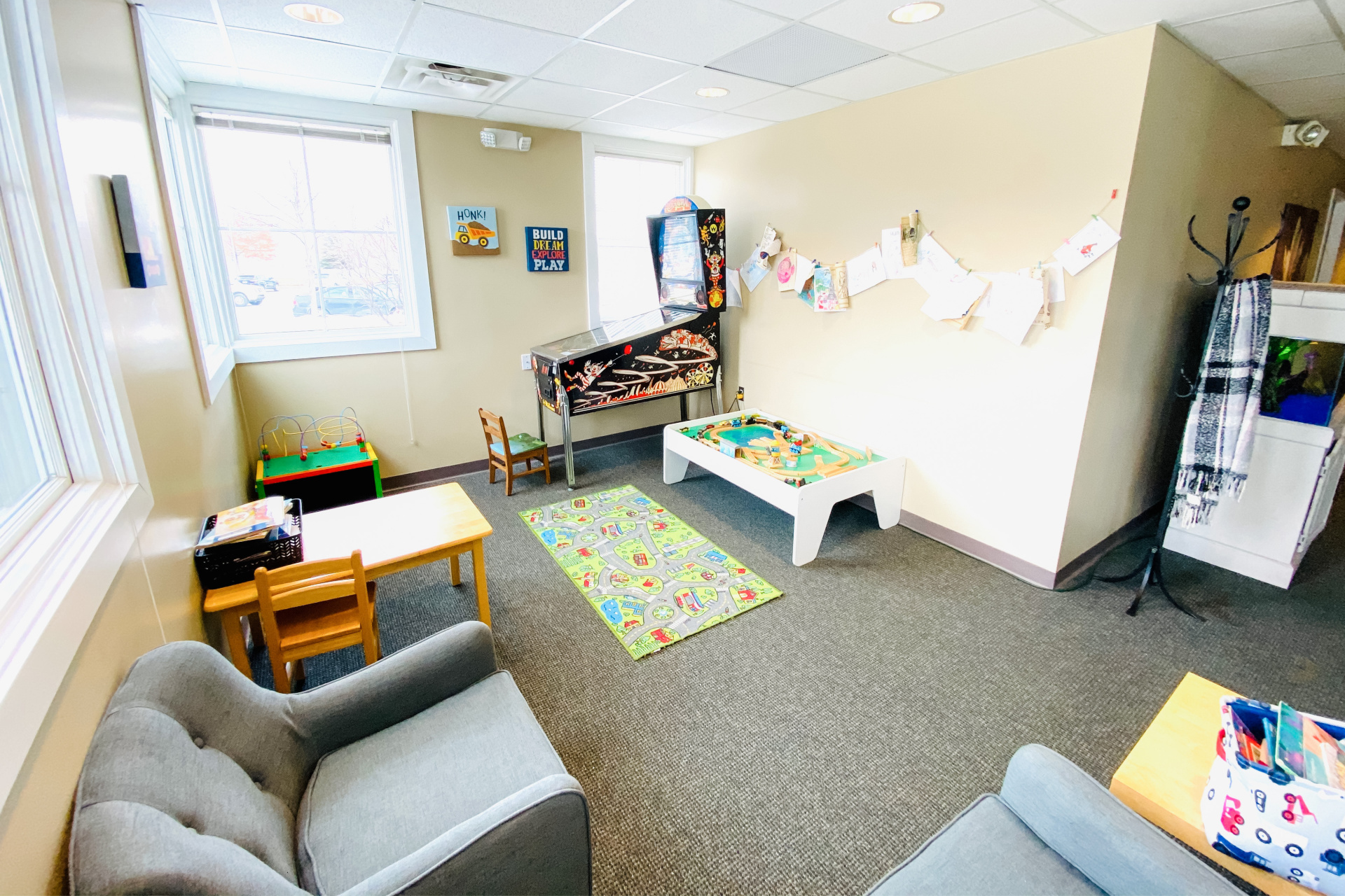 dexter dental studio waiting room children's area